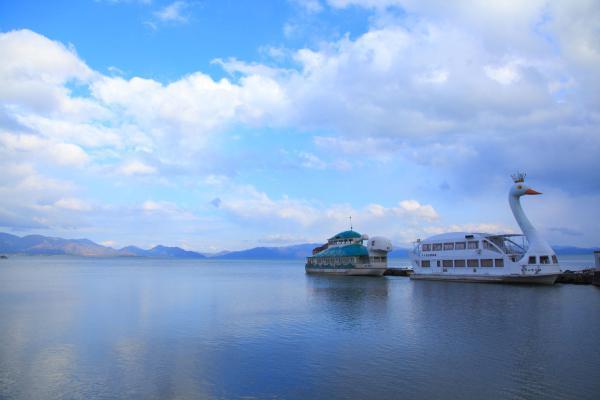 猪苗代湖と磐梯観光船