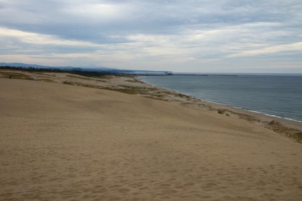 鳥取砂丘、見渡す日本海