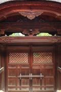 光明寺勅使門のアップ