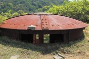 海側から見た友ヶ島観測所跡