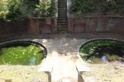 水が溜まった友ヶ島の砲台跡