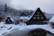 白川郷・雪景色と合掌造り