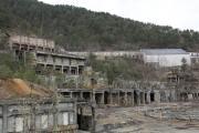 尾去沢鉱山、古城のような選鉱場跡