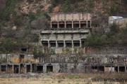 尾去沢鉱山選鉱場の遺構
