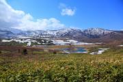 雪残る春の八幡平