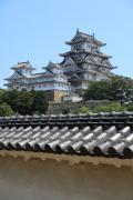 姫路城天守閣と城壁