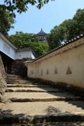 姫路城はの門と天守閣