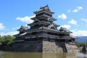 内堀から見た松本城