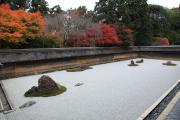 竜安寺方丈庭園と紅葉
